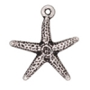 Charm Starfish Antique Silver